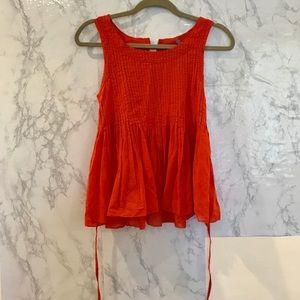 Anthropologie Vanessa Virgina orange Blouse Size 4